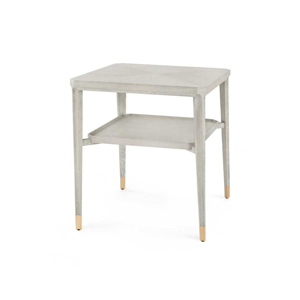 Bertram Side Table Grey Cerused Oak