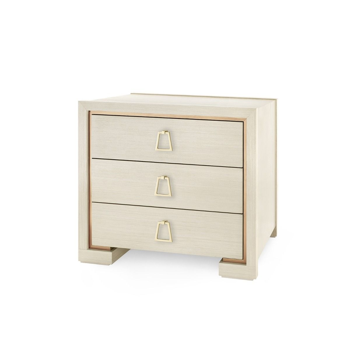 bungalow 5 blake three drawer side table blanched oak