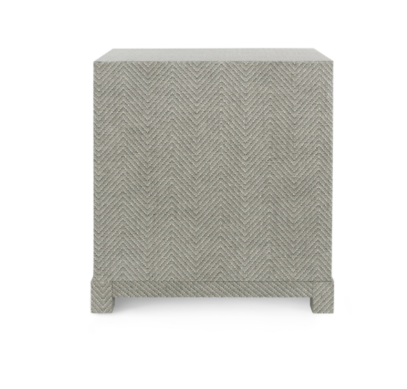 Bungalow 5 Brittany 3 Drawer Side Table Gray Lacquered Tweed