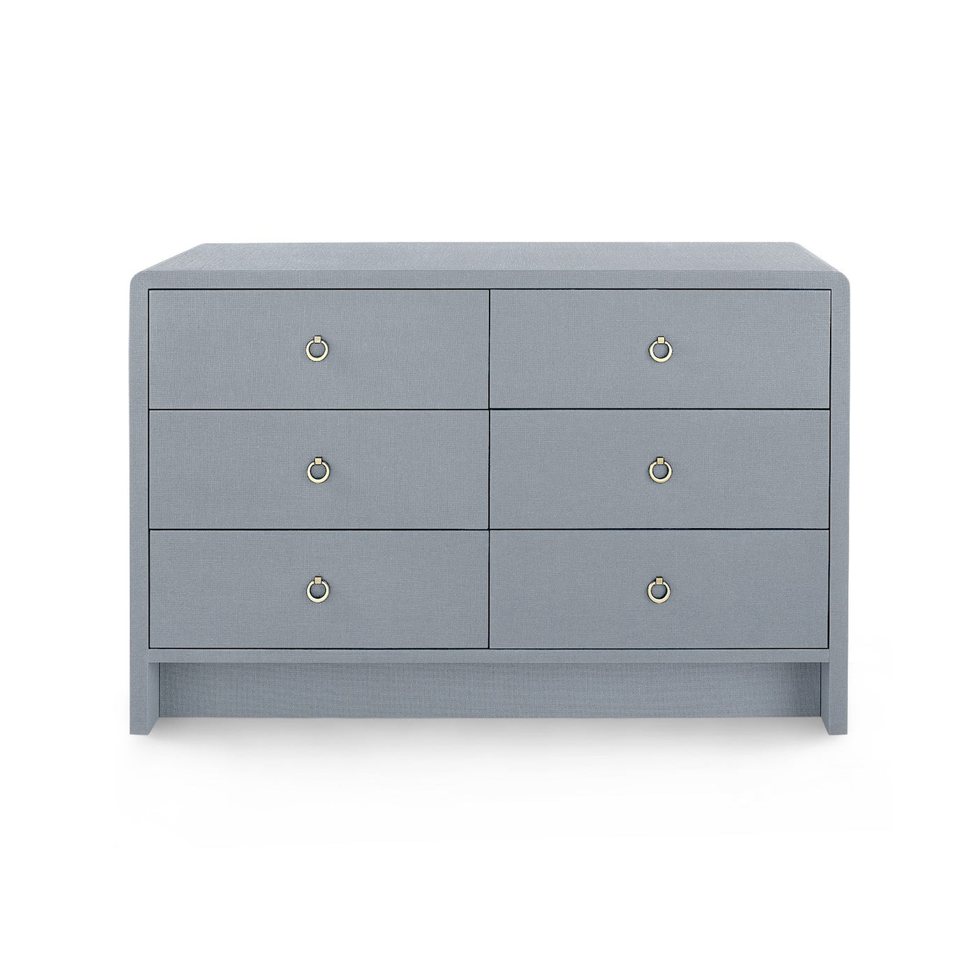 bungalow 5 bryant linen extra large 6 drawer chest gray