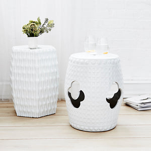 bungalow 5 burma stool side table white styled