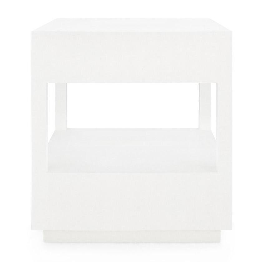 bungalow 5 carmen two drawer side table white back
