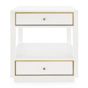 bungalow 5 carmen two drawer side table white
