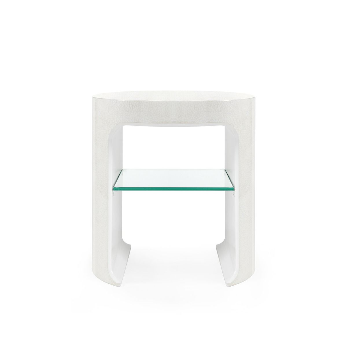 bungalow 5 carrel side table white front