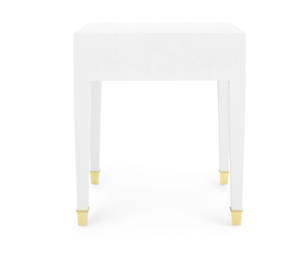 Bungalow 5 Claudette 1-Drawer Side Table White Gold Detail