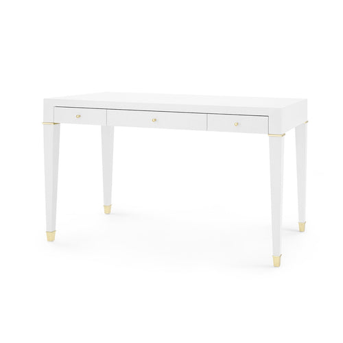 bungalow 5 claudette desk white linen surface