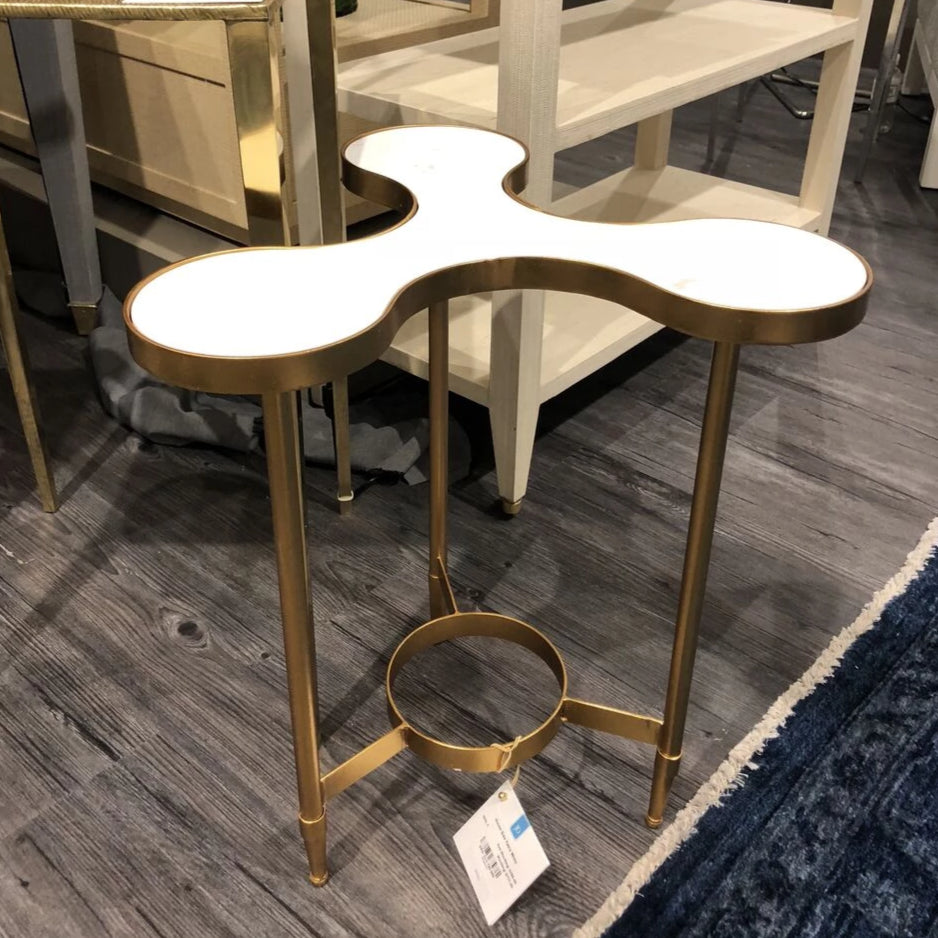bungalow 5 clover side table white