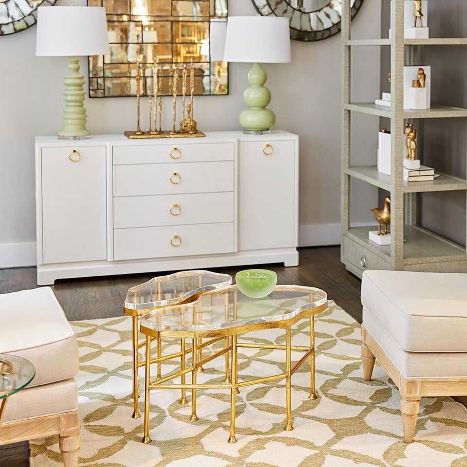 bungalow 5 cristal side table gold shown in room