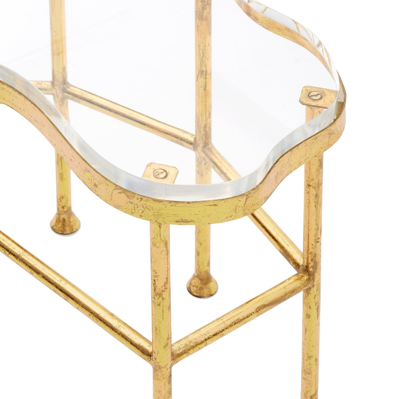 bungalow 5 cristal side table gold top