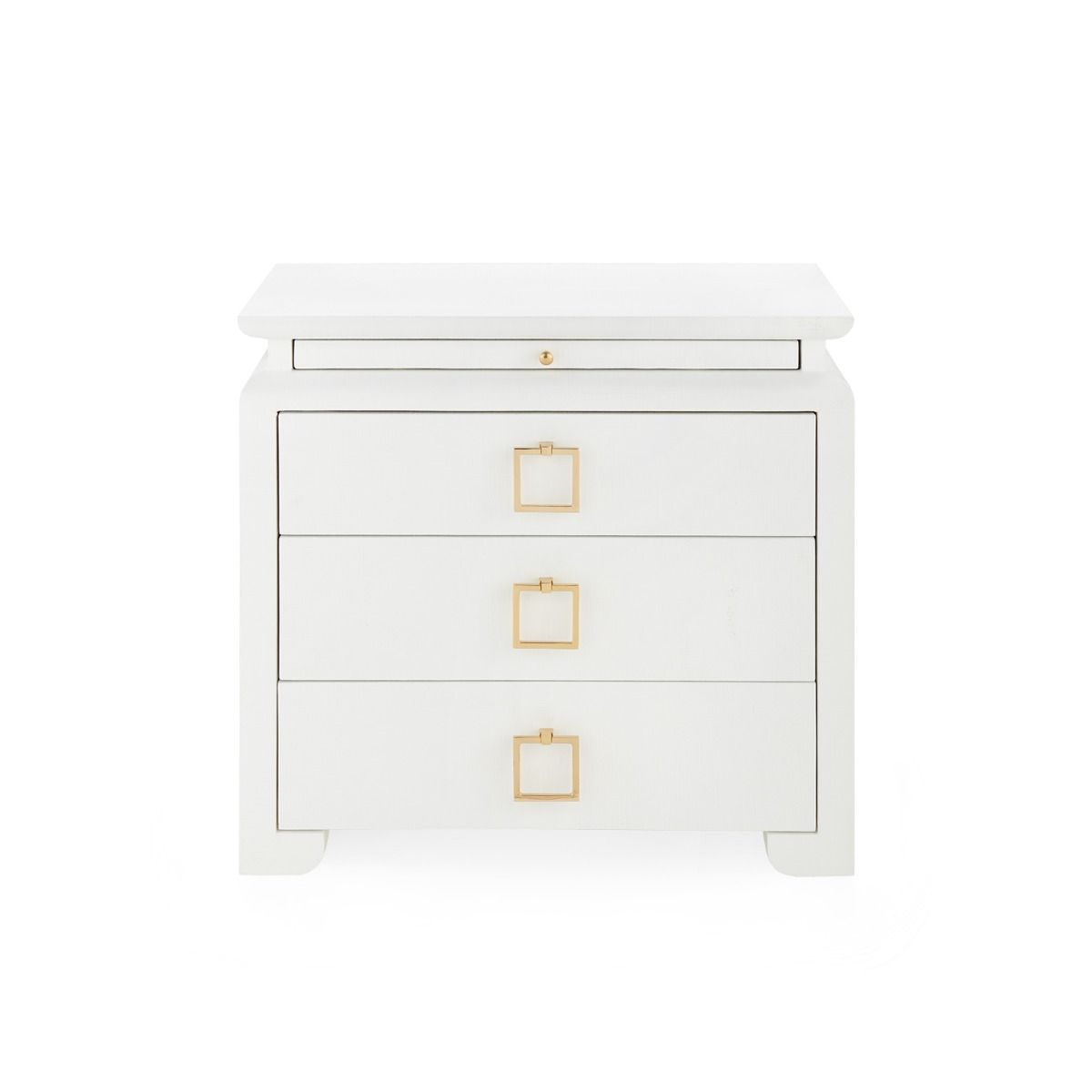 bungalow 5 elina three drawer chest white front