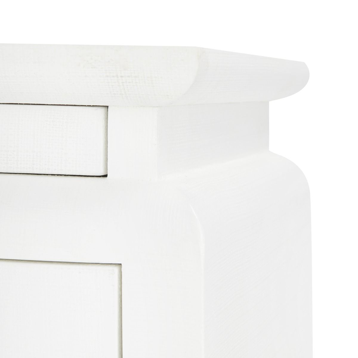 bungalow 5 elina three drawer chest white detail
