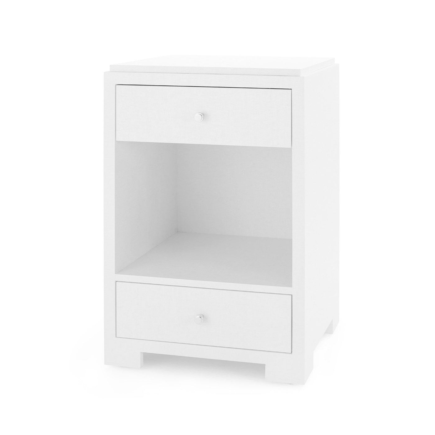 bungalow 5 fedor side table white grasscloth
