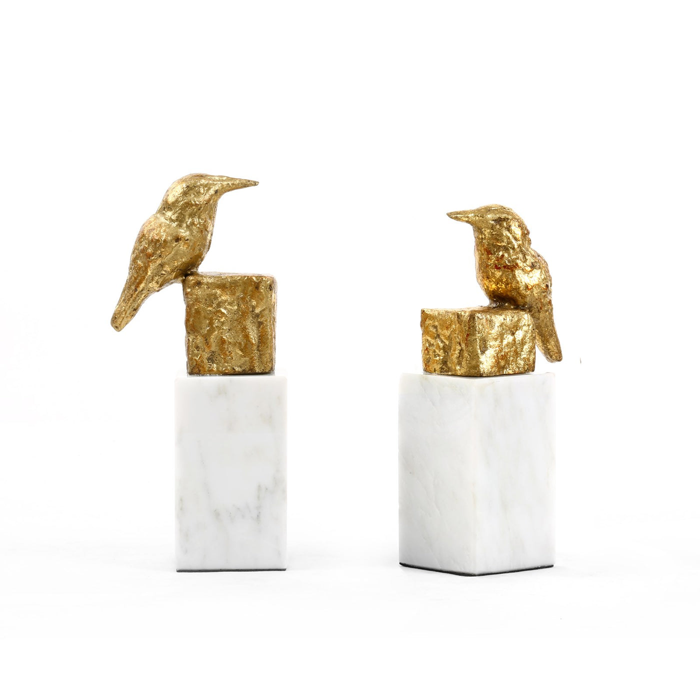 bungalow 5 finch statue pair gold angled