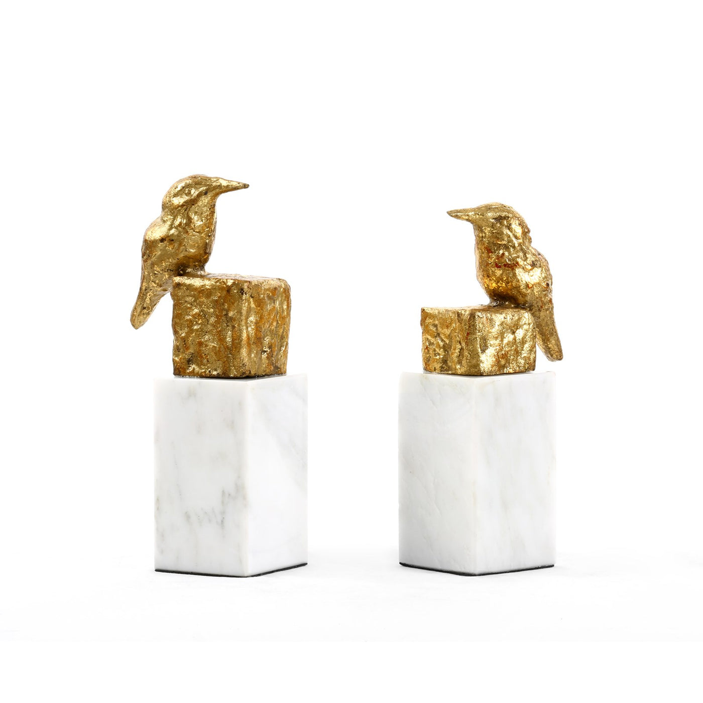 bungalow 5 finch statue pair gold