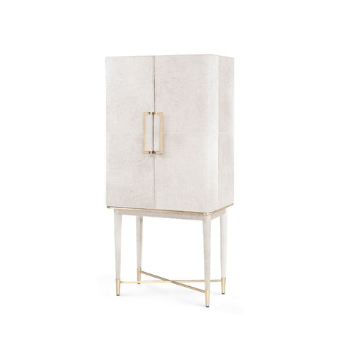bungalow 5 florian tall bar cabinet white angled
