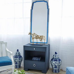 bungalow 5 francés navy blue side table