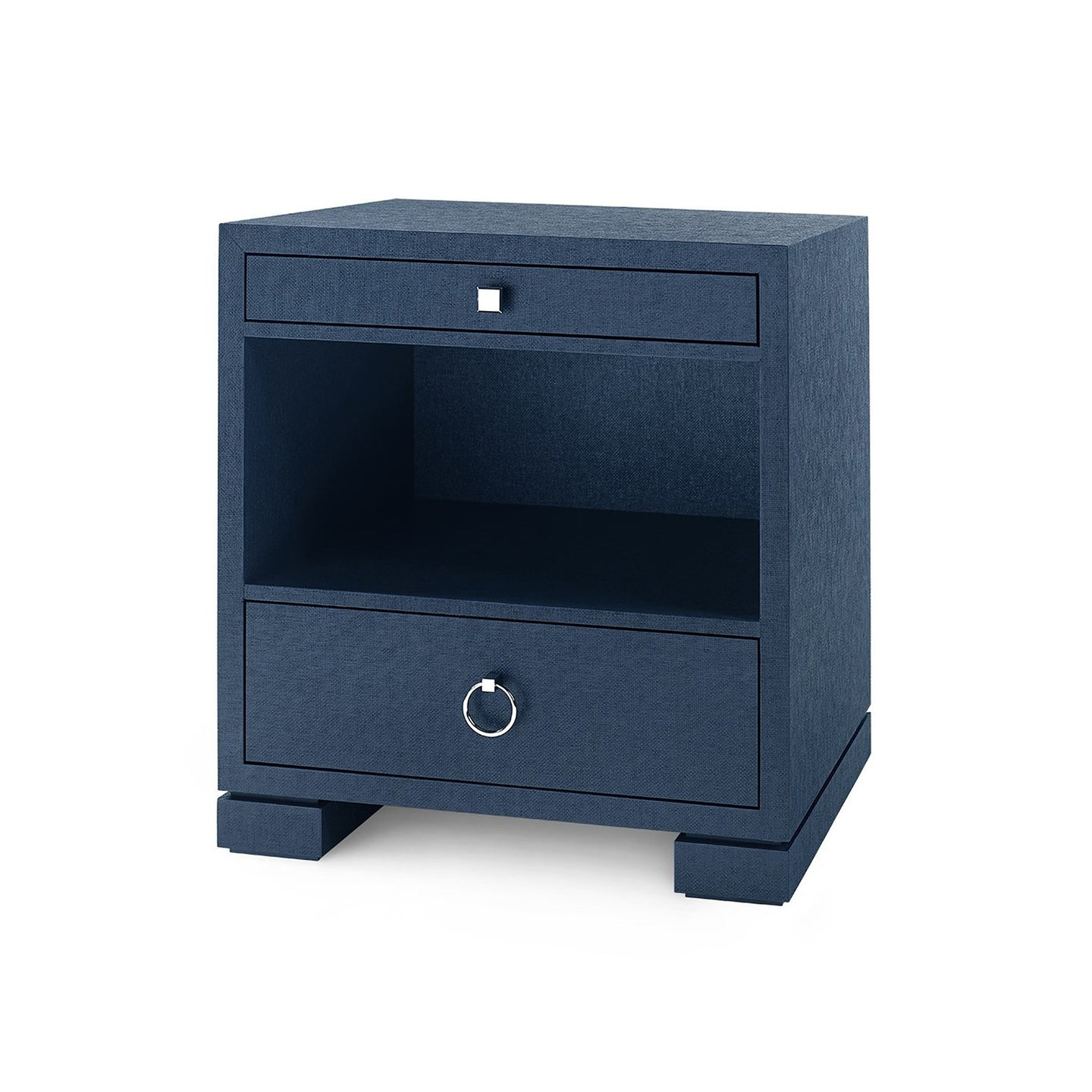 Bungalow 5 Frances Two Drawer Side Table Navy Blue
