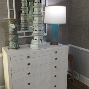 bungalow 5 francés 6 drawer white showroom