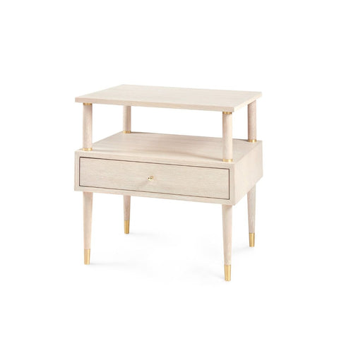 bungalow 5 gabriel side table bleached oak