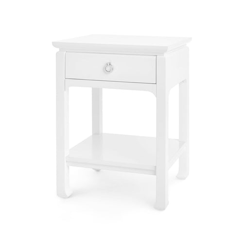 bungalow 5 harlow one drawer side table white