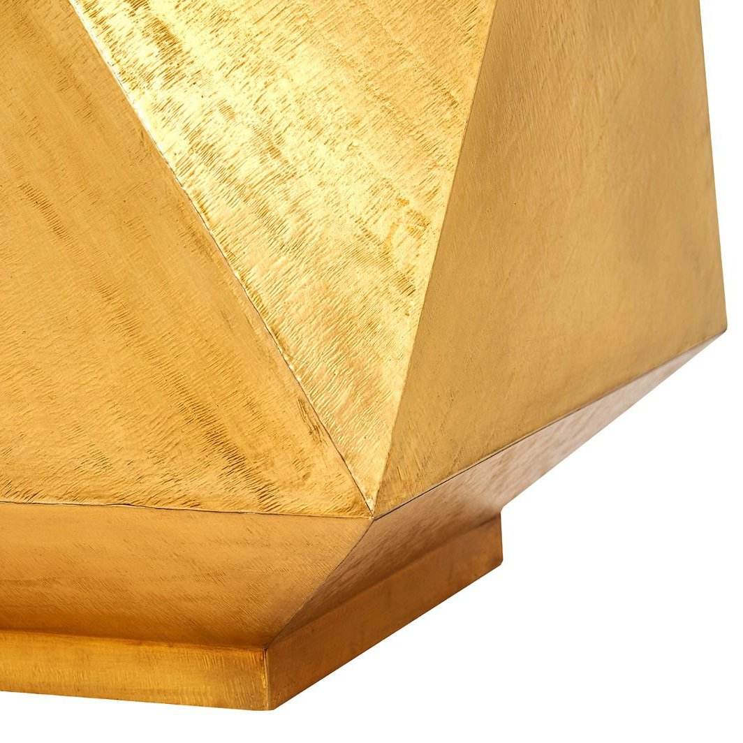 bungalow 5 hedron side table brass base