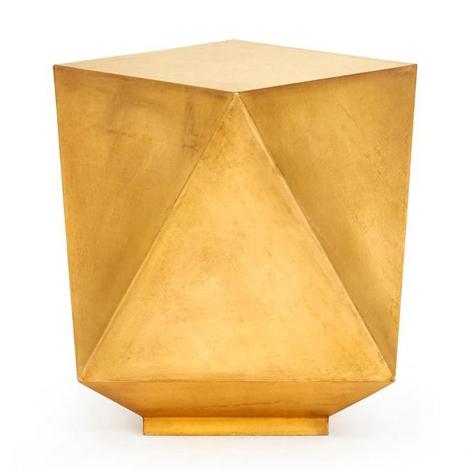 bungalow 5 hedron side table brass