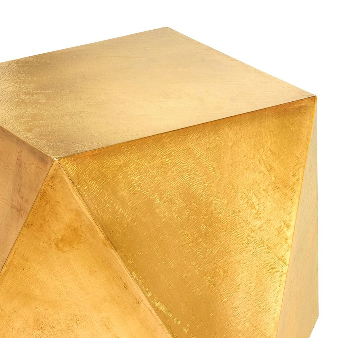 bungalow 5 hedron side table brass top