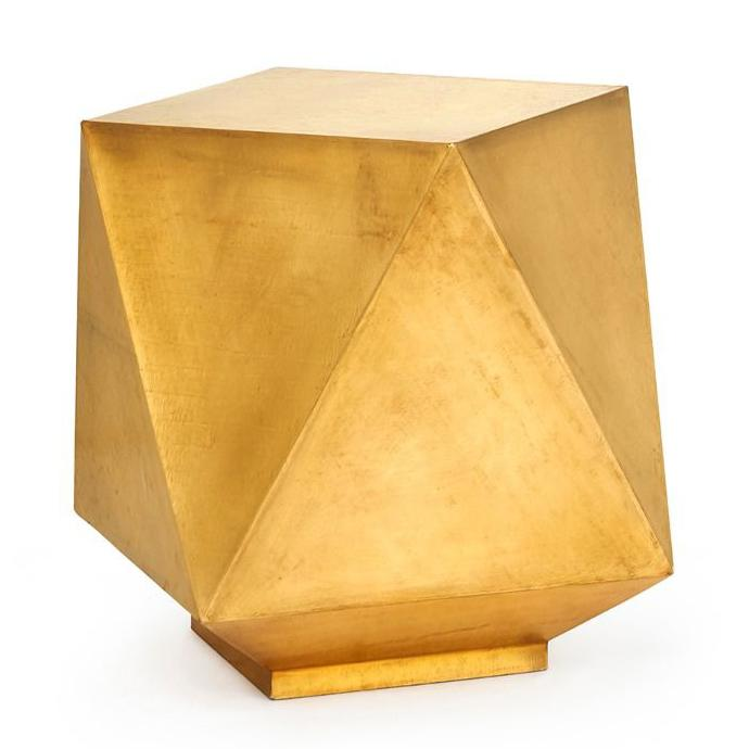 bungalow 5 hedron side table brass angle