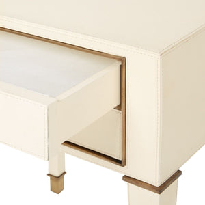 bungalow 5 hunter two drawer side table ivory drawer