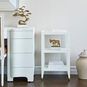 bungalow 5 isadora side table white styled