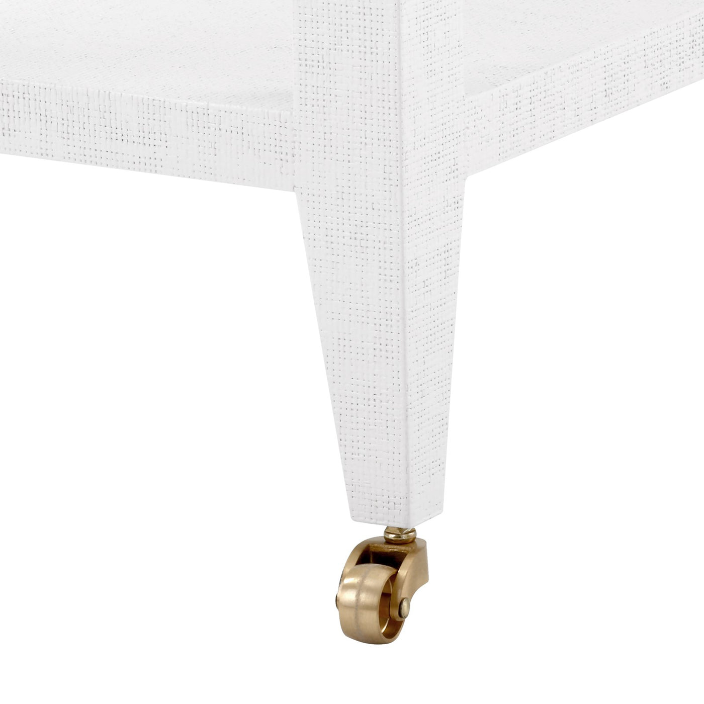 bungalow 5 isadora side table white wheel