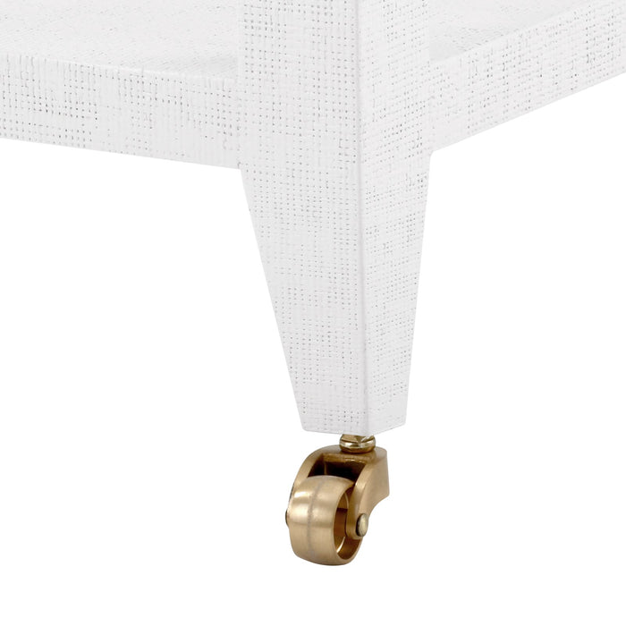 bungalow 5 isadora tea table white wheels