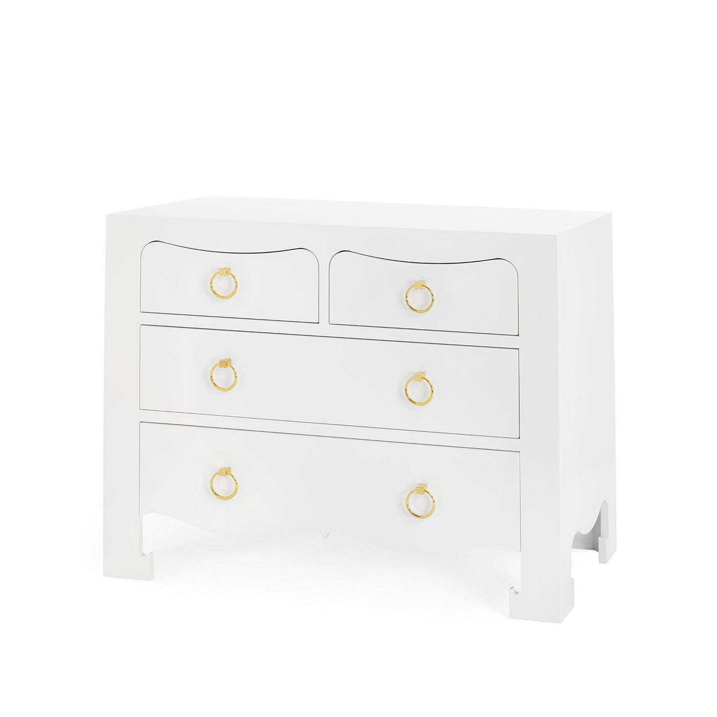 Bungalow 5 Jacqui Large 4 Drawer Chest White JAC-225