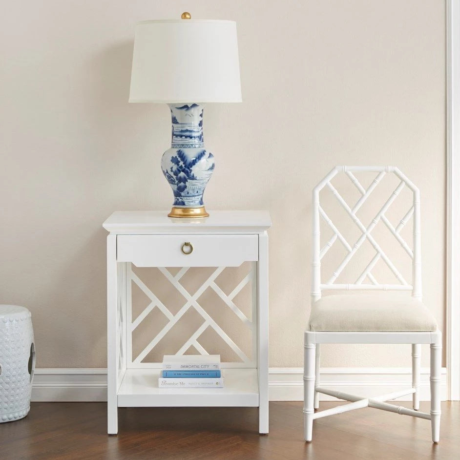 bungalow 5 jardin side chair white styled