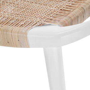 bungalow 5 jerome stool white weave detail