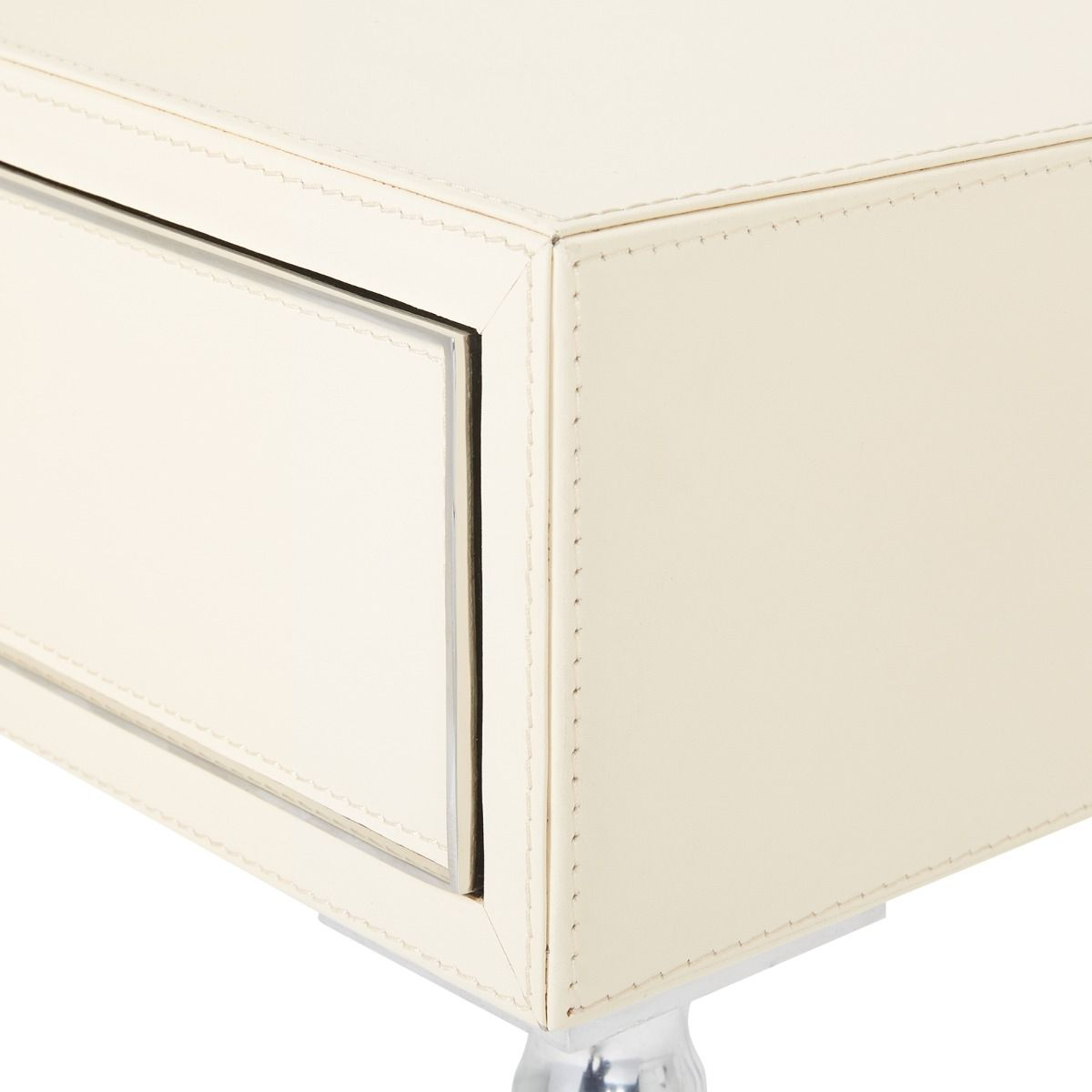 bungalow 5 Jolene 1 Drawer Side Table Ivory