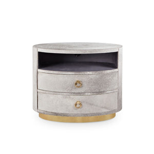 bungalow 5 julius 2 drawer side table gray