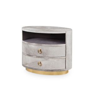 bungalow 5 julius 2 drawer side table gray angle