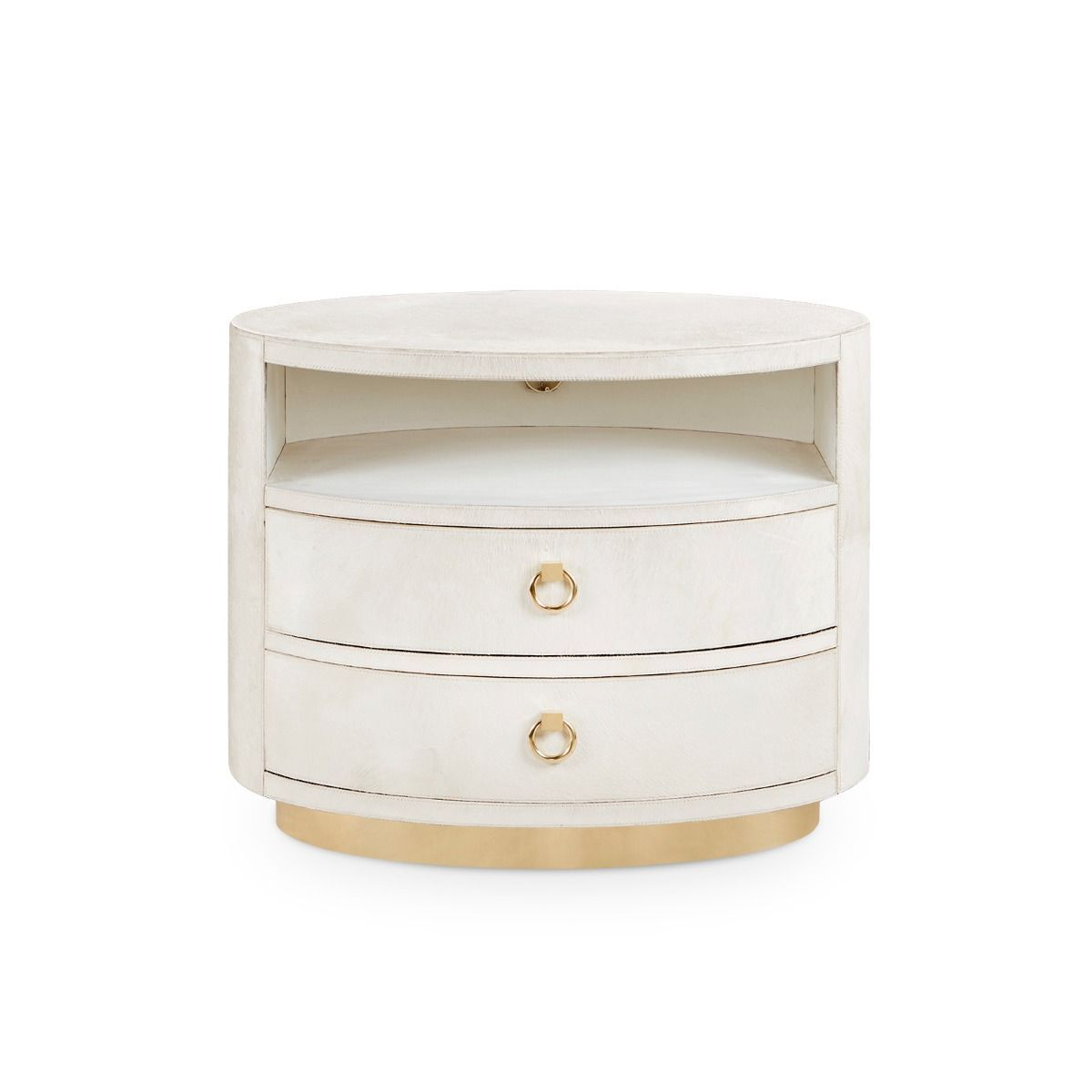 bungalow 5 julius 2 drawer side table white