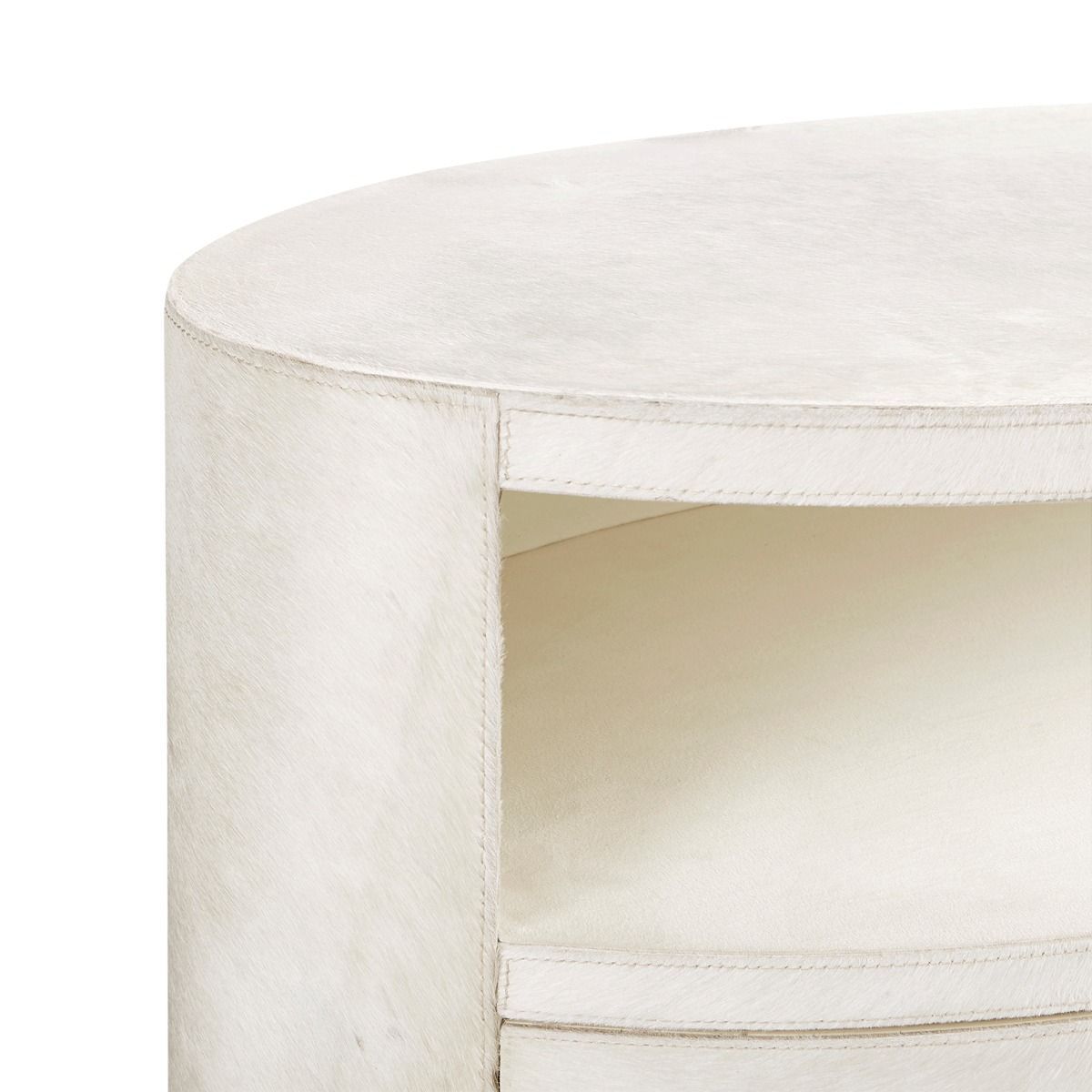 bungalow 5 julius 2 drawer side table white detail