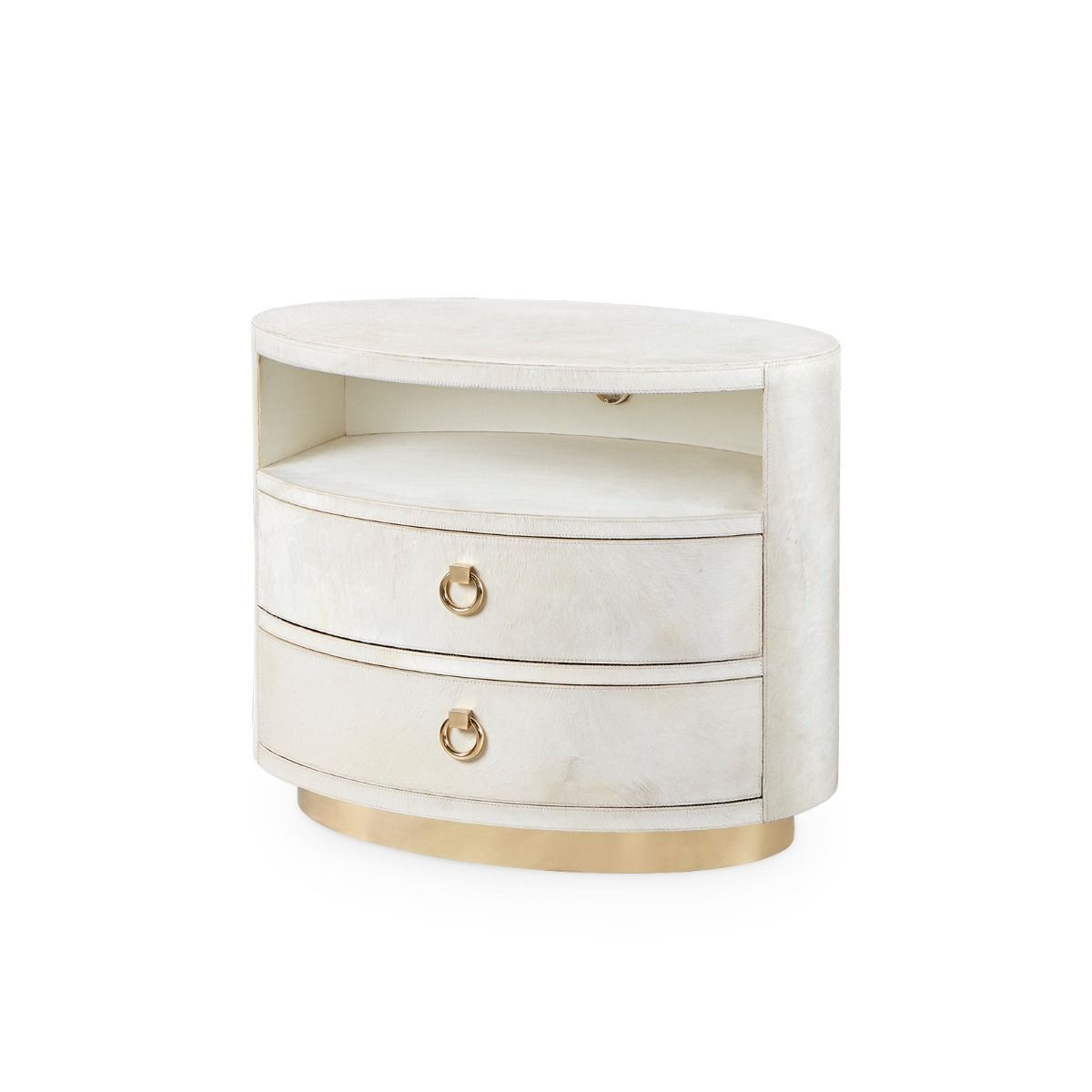 bungalow 5 julius 2 drawer side table white angle
