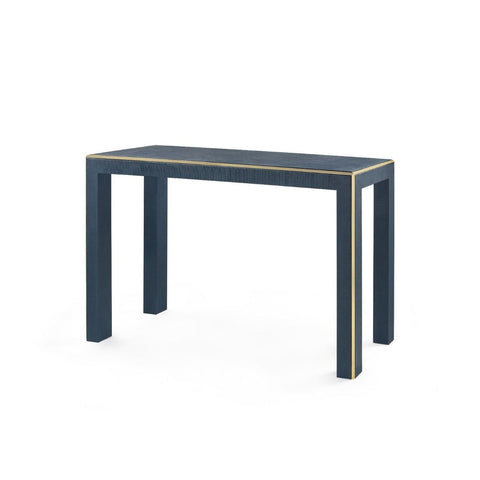 bungalow 5 lauren console navy blue angled view