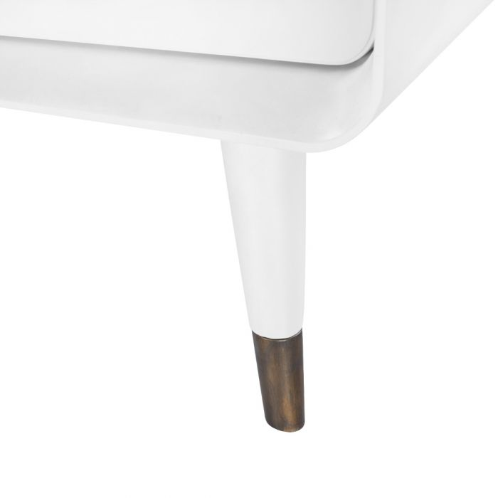 bungalow 5 malmo side table white leg detail