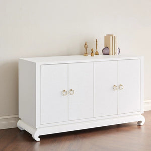 Bungalow 5 Meredith 4-Door Cabinet White Casegood Gold