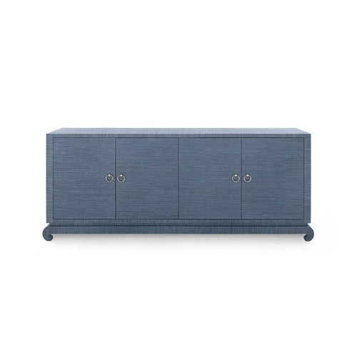 bungalow 5 meredith 4 door cabinet extra large navy blue