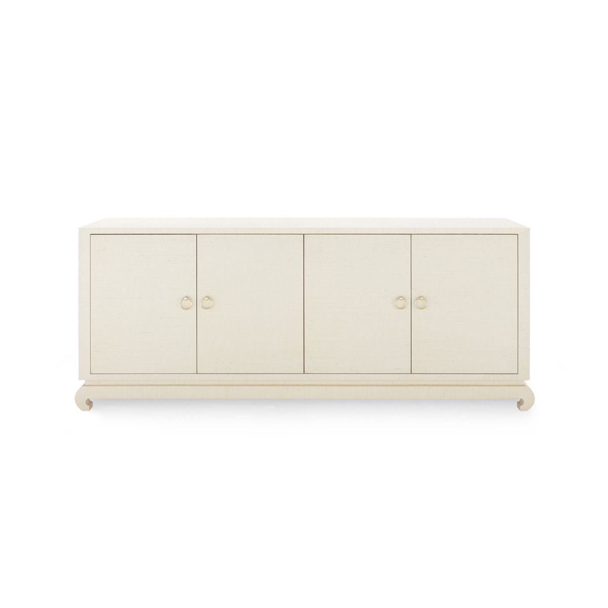 bungalow 5 meredith extra large 4 door cabinet natural