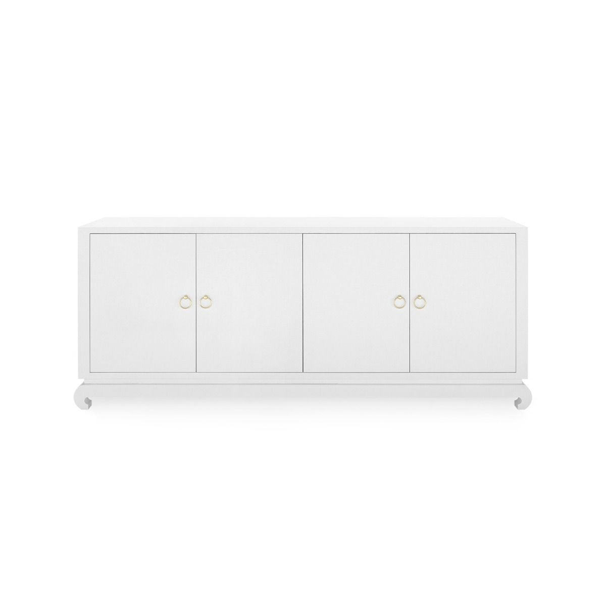 bungalow 5 meredith extra large 4 door cabinet white