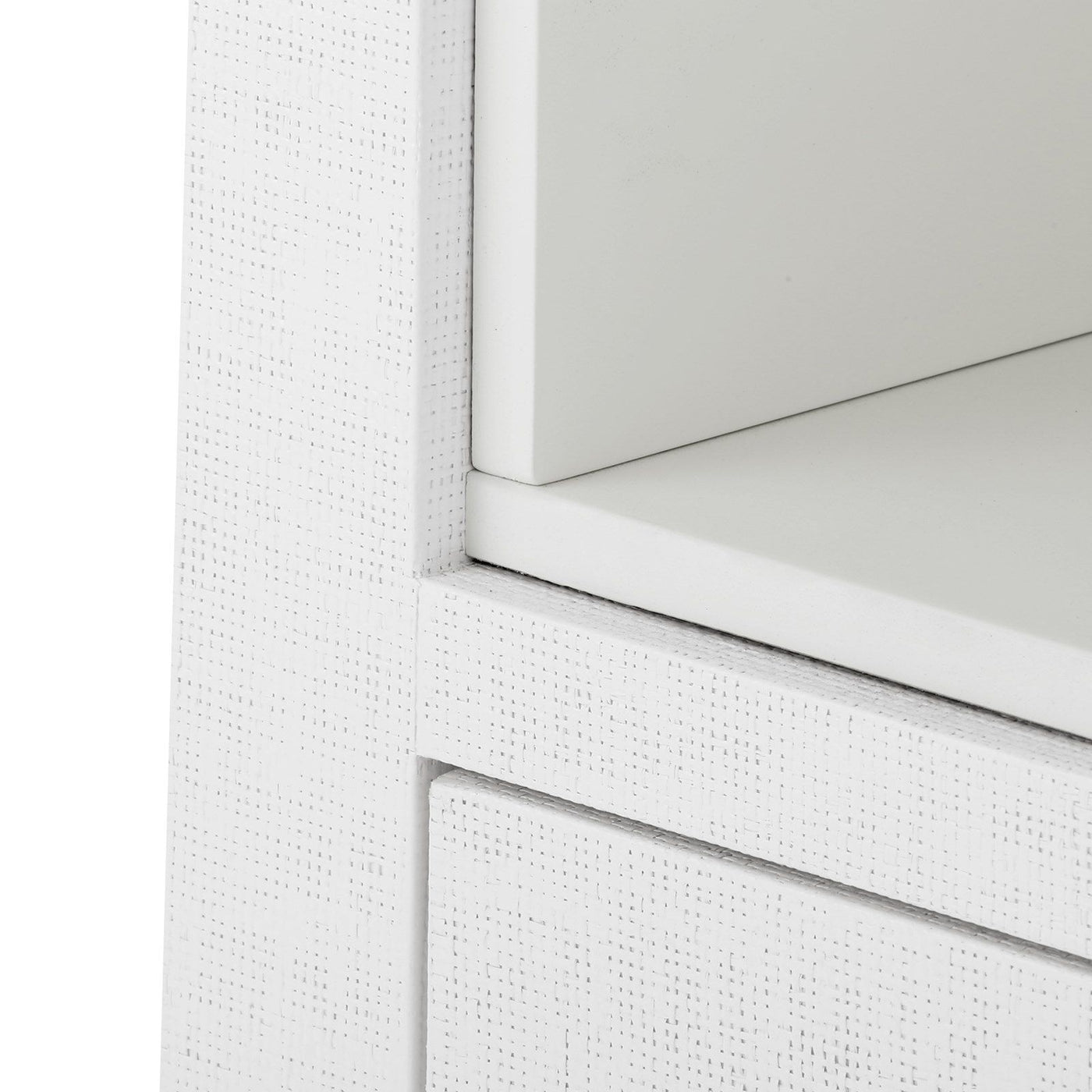 bungalow 5 ming 2 drawer white lacquer grasscloth