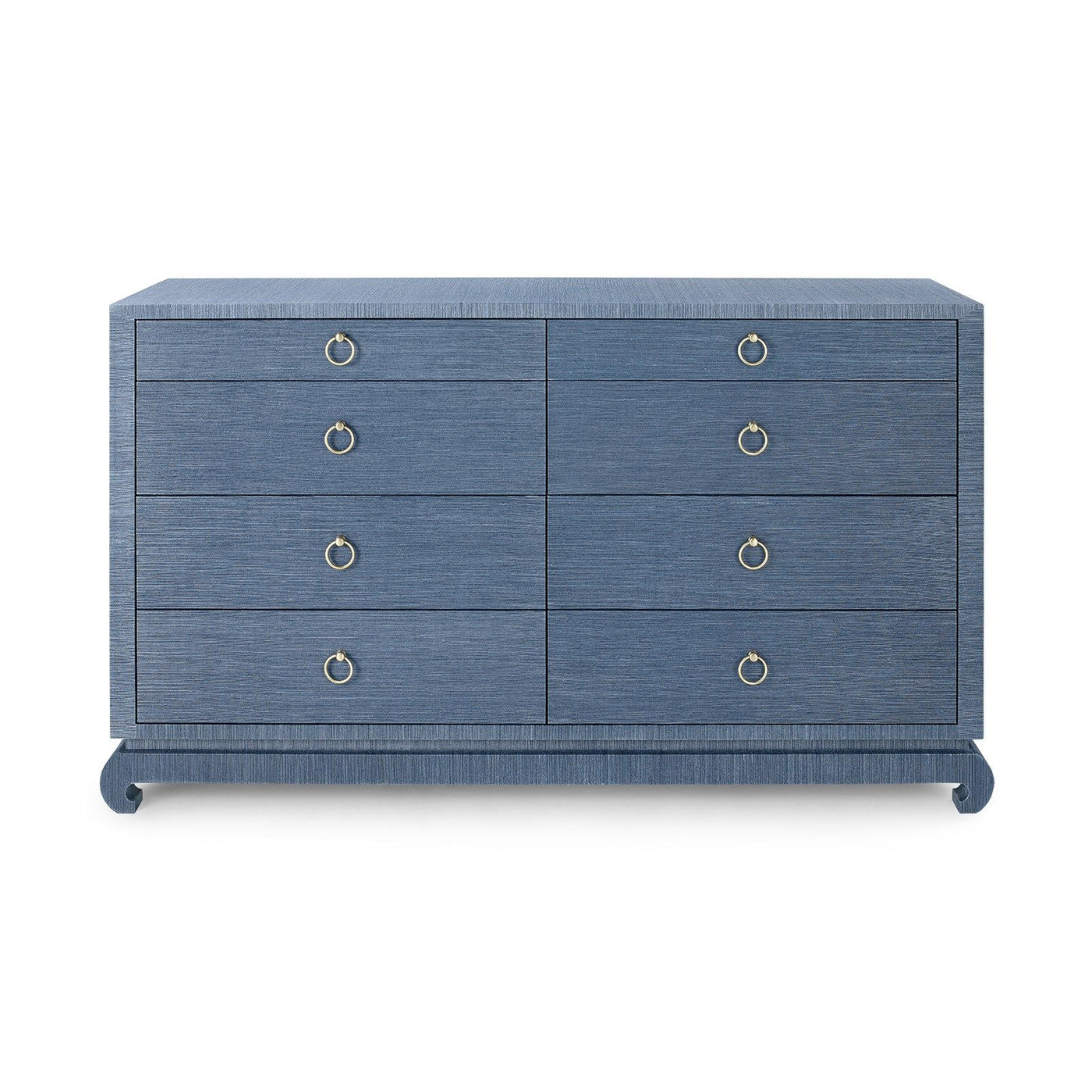 Bungalow 5 Ming Extra Large 8 Drawer Chest Navy Blue