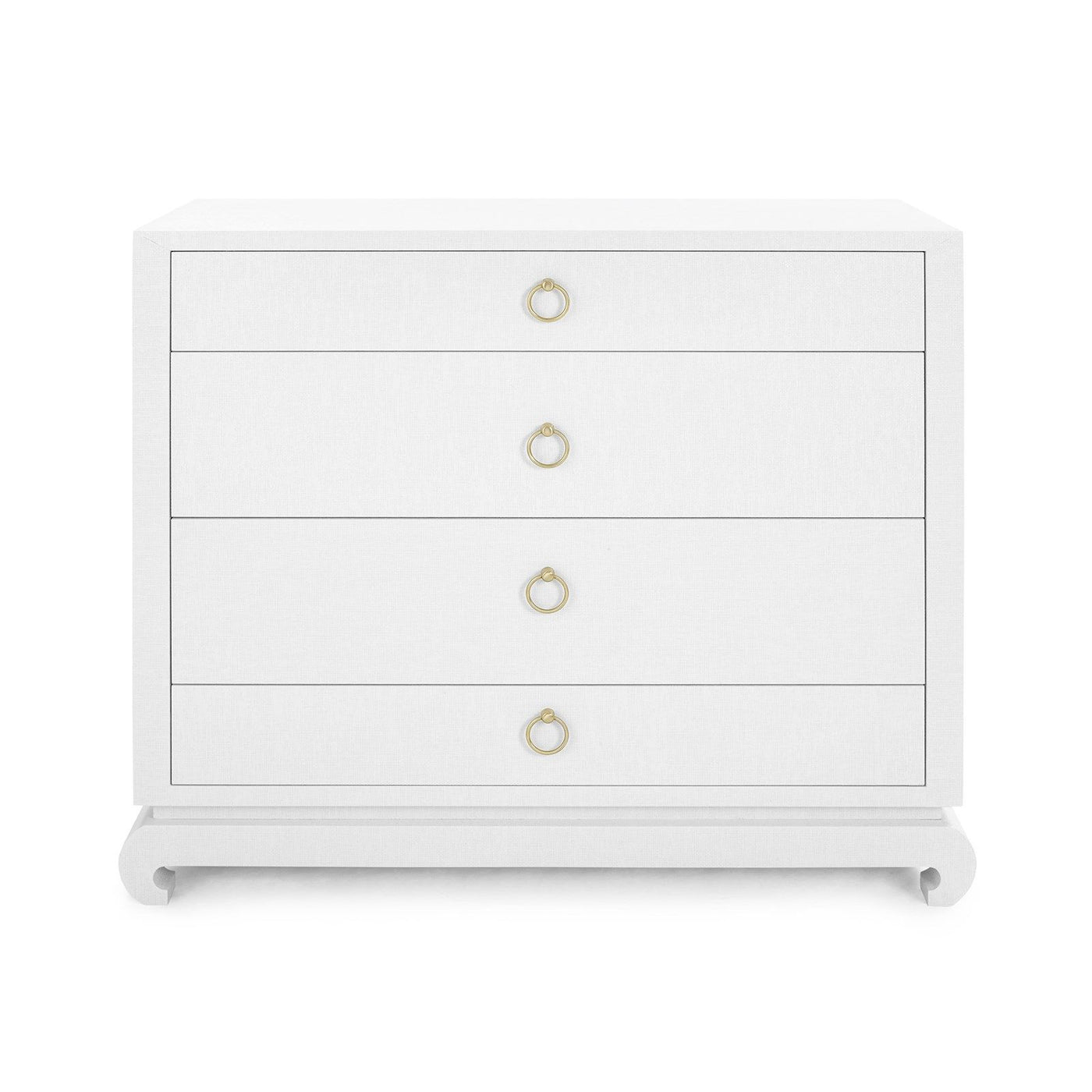 Bungalow 5 Ming Large Dresser Lacquered White Grasscloth